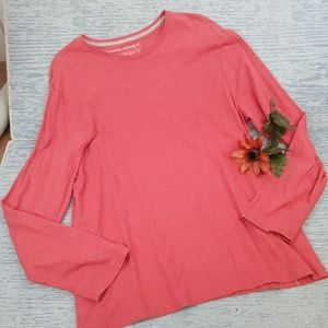 Banana Republic orange soft wash long sleeve shirt